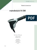 Handpiece R-SW Ultra Falcon De