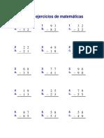 Hoja de Ejercicios de Matemáticas