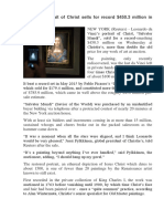 Da Vinci Portrait of Christ Sells for Record