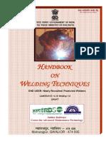 Draft Handbook on Welding Techniques
