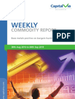 Bullion Commodity Reports for the Week
