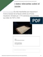 Conoce Diez Datos Relevantes Sobre El Fondo Inquisición