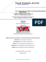 An Analysis of the Effectiveness of Transactional Analysis in Improving Organizational Effectiveness