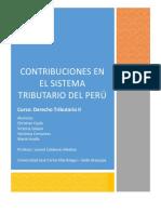 Trabajo Derecho Tributario II Contribuciones
