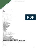 Coconut Food Production _ Coconut Handbook