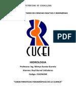 Caracteristicas Fisiográficas de La Cuencatarea