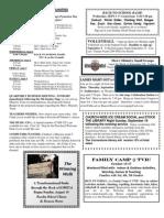 Bulletin Announcements 8-28-10