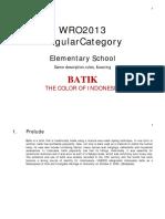 WRO2013 Regular Category - Elementary