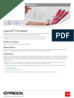 Gyprock Fire Mastic Datasheet