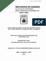 EVALUACIÓN DEL ESTADO ACTUAL DEL PAVIMENTO RÍGIDO EN EL JIRÓN JUNÍN DE LA CIUDAD DE JAÉN- CAJAMARCA