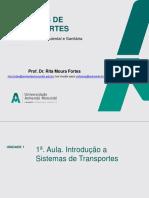 1ª Aula sistemas de transporte