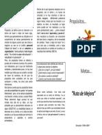 Triptico Orientacion Para Ruta i PDF