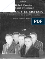 Crozier, M. y Friedberg, E. (1990). Las Restricciones de La Acción Colectiva