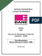 Ficha Metodologica Enciuesta Hoteles Dane