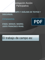 Trabajo de Campo y Analisis de Discurso