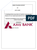 Comperative Analysis of Saving and Salary Products of Axis Bank With Its Competitors