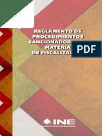 INE Reglamento de Procedimientos en Materia de Fiscalización