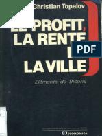 Topalov - Le Profit, la Rente et la Ville