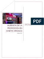 Sergio Fragoso Anteproyecto Promocion en Cinetix