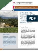 Dammert, Juan - Expansión Del Cultivo de Palma Aceitera en La Amazonía