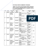 Revised Examination Schdule