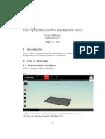 Tutorial Makerbot