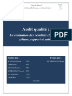 Audit Qualité (1)