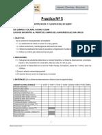 Práctica N 05 Identificación de Nubes