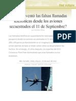 ¿Quién inventó las falsas llamadas telefónicas desde los aviones secuestrados el 11 de Septiembre?,