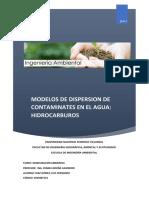 Modelos de Dispersion de Contaminates en El Agua Hidrocarburos