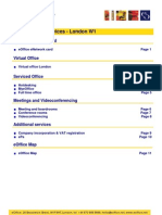 eOffice Pricelist London Soho W1