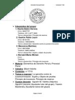 TP Grupal Grupo 2. Reserva, Autoincriminacion, Sujeto y Objeto de Prueba, Inocencia