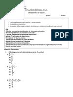 Evaluacion informal Matematica