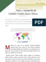 Italia, base y trampolín de Estados Unidos hacia África , por Manlio Dinucci