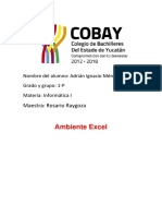 Ambiente Excel Adrián Mendez