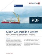 Kikeh Gas Pipeline System Project Malaysia
