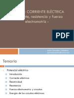 Corriente eléctrica - 1 - Corriente, resistencia y fuerza electromotriz.pptx