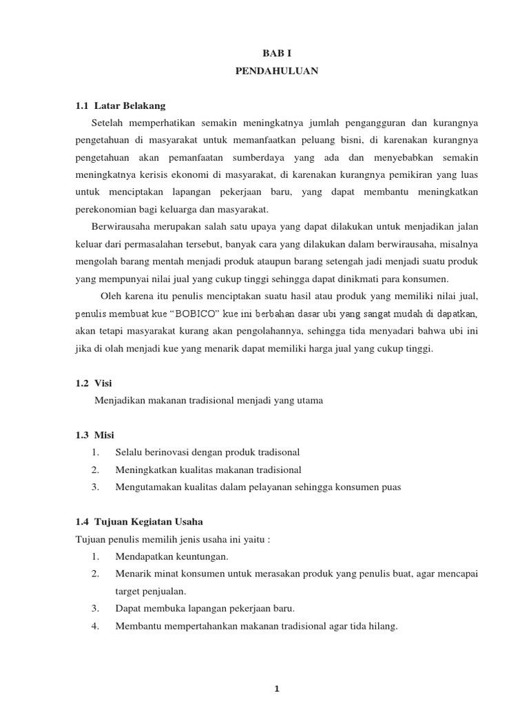 Proposal Usaha Makanan Kekinian - Contoh Proposal ...
