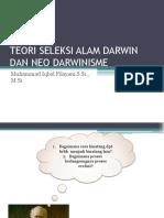Teori Seleksi Alam Darwin Dan Neo Darwinisme