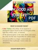 Colour Vision Anomalies