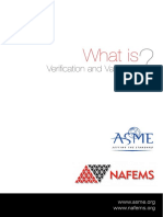 What is Verification and Validation, NAFEMS