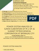 Board Presentation-power System Analysis of 52mva Substation