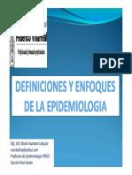 ENFOQUES EPIDEMIOLOGICOS