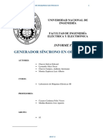 If Generador Sincrono en Operación