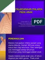 Penatalaksana Malaria Pada Anak (New)