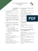 Firefox Installation Sheet English