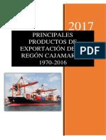 Principales Productos de Exportacion Cajamarca 1970-2016