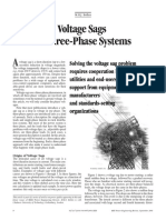 Voltage Sag in three phase system