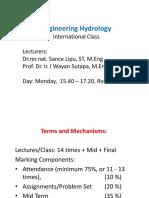 Hydrology 1 Intro