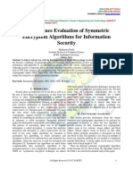 Performance Evaluation of Symmetric